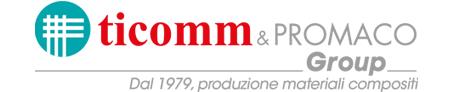 Logo marchio di Ticomm & PROMACO